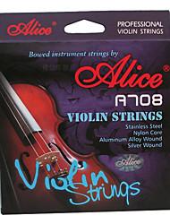 alice - (A708) violon strings/e-1st âme en acier, un d-2ème-3ème âme en nylon g-4e