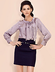 TS Bow Tie Pleat Blouse Shirt