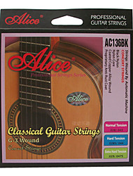 Alice - (AC136BK-N) Normal Tension Classical Guitar Strings (028-043)