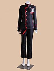 Inspiré par D.Gray-man Allen Walker Anime Costumes de cosplay Costumes Cosplay Mosaïque Noir Manche LonguesManteau / Top / Pantalons /