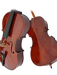 глянцевой возраста виолончель ели с подставкой