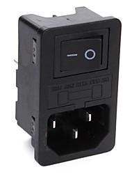 БД-14 выключатель питания с предохранителем (черный, 1 шт упаковка)