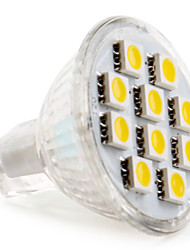 Gu4 (mr11) 2w 10 smd 5050 120 lm branco morno / branco quente mr11 spotlight conduzido dc 12 v