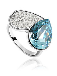 Австрия кристалл кольцо с платиновым напылением сплава - сердце (больше цветов)