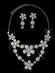 совершенный из двух частей дамы ожерелье и серьги комплект ювелирных изделий (50 см)