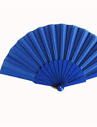 Royal Blue Silk Hand Fans (set of 6)