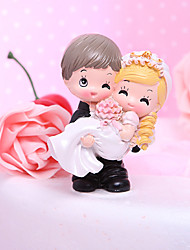 Cake Topper Classic Couple / Funny & Reluctant Resin Wedding / Bridal Shower Garden Theme / Classic Theme Gift Box