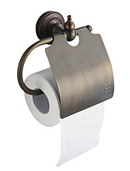 Antique Bronze Finish Solid Brass White Wall Mount Toilet Roll Holder
