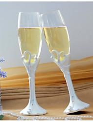 """doble corazón """"nuestro momento"""" flautas de champán brindando"""