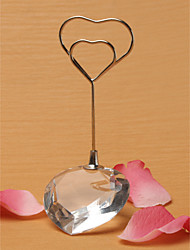 Place Cards and Holders Heart Shaped Crystal Place Card Holder