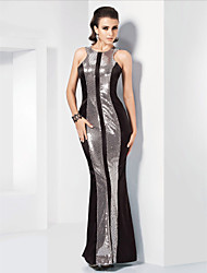TS Couture Formal Evening Military Ball Dress - Elegant Celebrity Style Sparkle & Shine Trumpet / Mermaid Jewel Floor-lengthStretch Satin