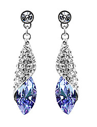 Women's Shinning and Beautiful Purple Crystal Earrings