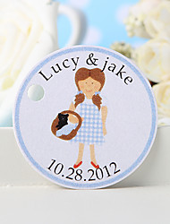 Personalized Favor Tag - Girl (Set of 36)