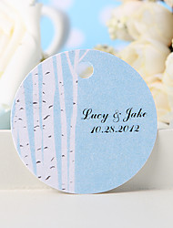 Personalized Favor Tag - White Tree (Set of 36)