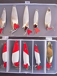 10 pc Esche rigide Esca metallica Confezioni di esche Esca Esca metallica Esche rigide Confezioni di esche g/Oncia mm pollice,Metallo