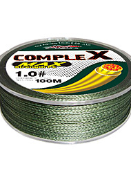 100M / 110 Yards PE Braided Line / Dyneema / Superline Fishing Line Green 10LB / 15LB / 25LB / 30LB / 35LB / 40LB / 50LB / 60LB / 20LB