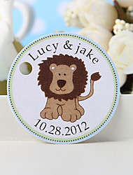 Personalized Favor Tag - Lion (Set of 36)