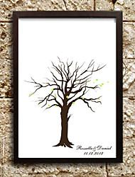 pintura huellas dactilares lienzos personalizados - árbol (incluye 6 colores de tinta, marco no incluido)