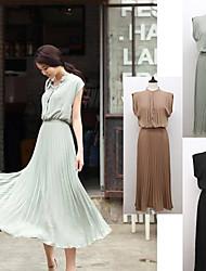 Trendy Sleeveless Beach Dress