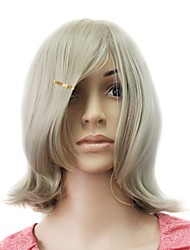 sem tampa de alta qualidade sintética peruca de cabelo loiro encaracolado médio
