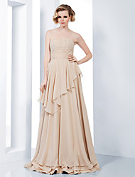 TS Couture Formal Evening Military Ball Dress - Elegant Sheath / Column Strapless Sweetheart Floor-length Chiffon with Sequins Ruching