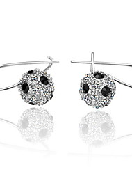 Fashion Rhinestone Alloy Round Cut Earrings (More Colors)