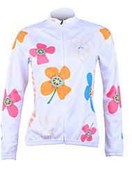 Женская куртка с длинным рукавом, для велоспорта, состав 100% полиэстер, UPF50 + (белый)