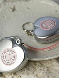 Chrom Keychain Favors Stück / Set Schlüsselanhänger Garten Thema Silber