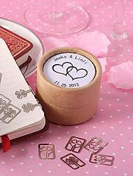 personnalisé signet double cœur dans une boîte cadeau - jeu de 20