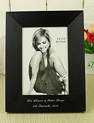 Personalized Black Aluminum Photo Frame