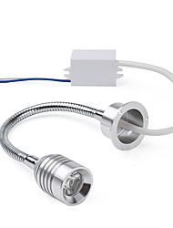 1W 90LM 6500K White LED Flexible Neck Mirror Light Bulb with LED Driver (85~265V)