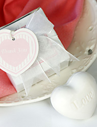 White Heart Soap Wedding Favor