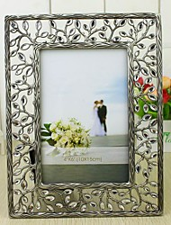 Hallow Out Leaves Silver Alloy Photo Frame