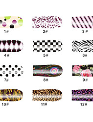 dot patroon 14 tips nail art stickers