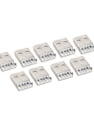 10 Pieces USB AM Male 4Pin Panel Mount Socket Connector DIY
