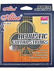 Alice - (aw464-SL) de carbono de aço de alta cordas da guitarra acústica (011-052)