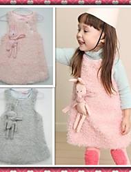 meninas coelho de pelúcia vestido de colete de caxemira boutique