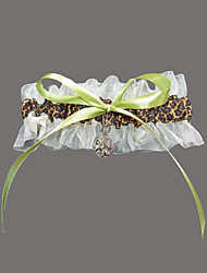 Garter Satin Organza Leopard Print Multi-color
