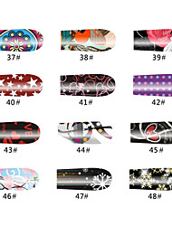 Schneeflocke 20 Tips Nail Art Sticker