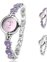 Mulheres Relógio de Moda Quartz Banda Branco / Roxa marca-