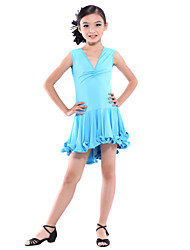 Dancewear Viscose Latin Dance Dress For Children