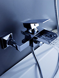 Contemporary Waterfall Tub Faucet - Wall Mount