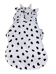 Dairy Cow Style Quilted Coat for Dogs (XS-XL, White)