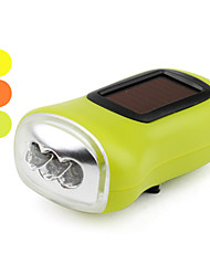 1-mode 3-LED Flashlight (solaire / dynamo, couleurs assorties)