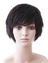 Capless Natural Look Short Black Wavy Human Hair Wig
