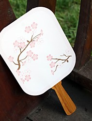 """Kirschblüten""-Lüfter mit Bambus-Griff (10 1/4 ""hx 5 1/2"" w) - 4 Stück"