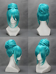 Cosplay Wigs Vocaloid Hatsune Miku Blue Medium Anime/ Video Games Cosplay Wigs 45 CM Heat Resistant Fiber Female