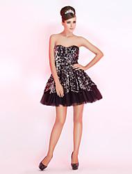 Um querido Line mini vestido curto / cocktail de lantejoulas / baile