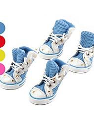 Cães Sapatos e Botas Vermelho / Azul / Rosa / Amarelo Primavera/Outono Pele PUCão Sapatos