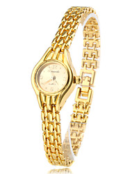 Women's Fashionable Style Alloy Analog Quartz Bracelet Watch (Gold) Cool Watches Unique Watches